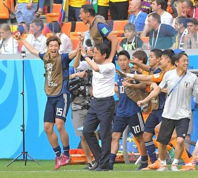 日本观众看世界杯:日本对哥伦比亚瞬间最高收视率达55.4%