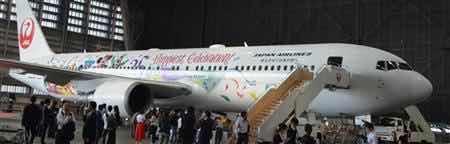 东京迪尼斯35周年庆 公开日航特别涂装机