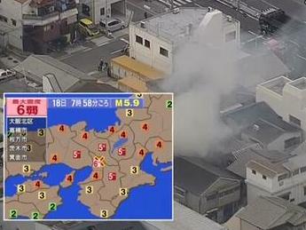 大阪北部地震带来的经济损失约为1800亿日元