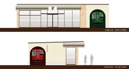 """根据观光列车形象设计的""""7-11 Kiosk""""便利店将于7月5日开业"""