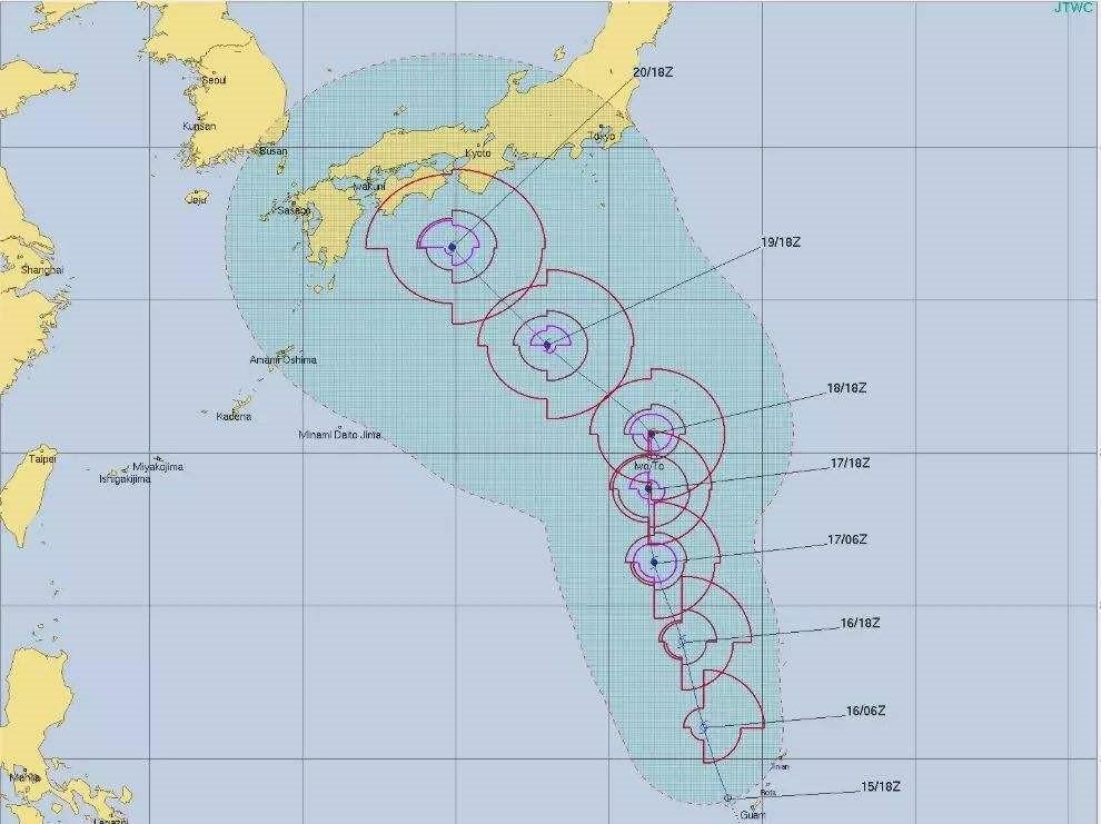 19号台风19日迫近九州 气象厅称台风20号将经本州