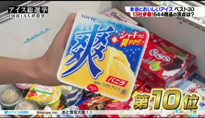 """万人总选""""2018日本冰淇淋排行"""""""