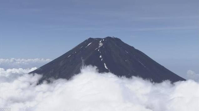 夏季攀登日本富士山的人数比往年减少约2万人
