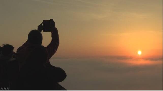 """日本广岛县三次市 呈现幻想中的""""雾之海""""美景"""
