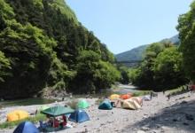奥多摩溪谷避暑 露营+BBQ+花火+跳水+森林浴
