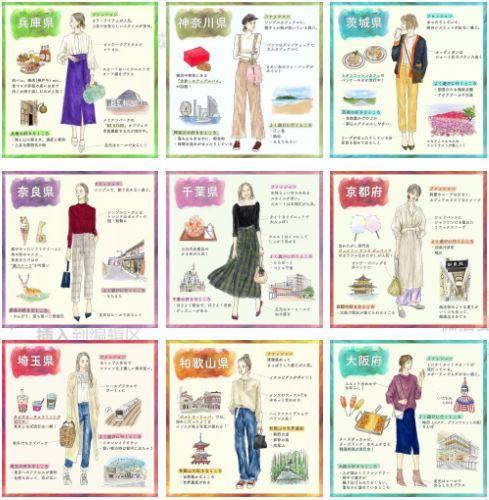 日本女子图鉴,不同地区的日本小姐姐穿搭差这么多!都这么好看的吗?